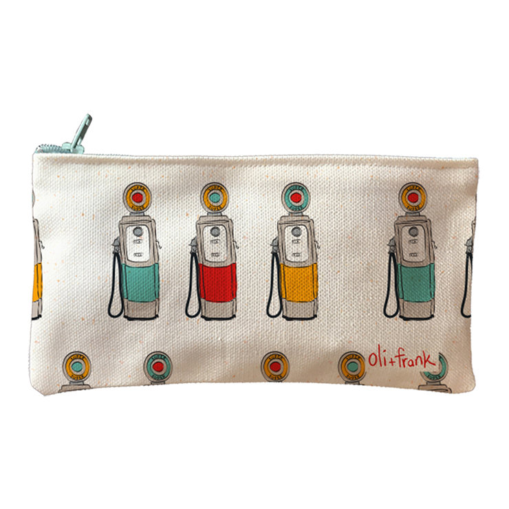 Retro fuel pumps pencil bag by oli+frank