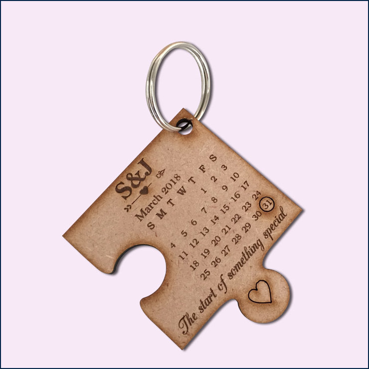 Custom Puzzle Key Rings (pack of 5) by Polkadot Box