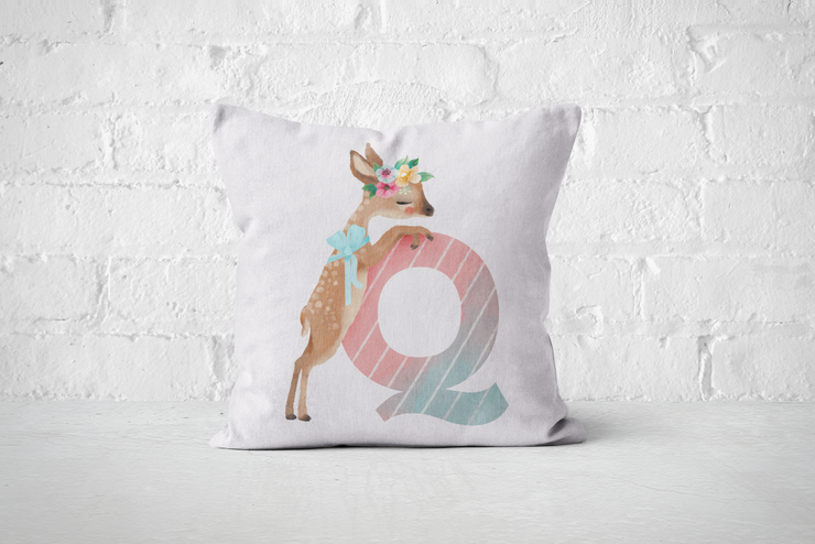 Pretty Letters Pillow Cover - Q by But Why Not