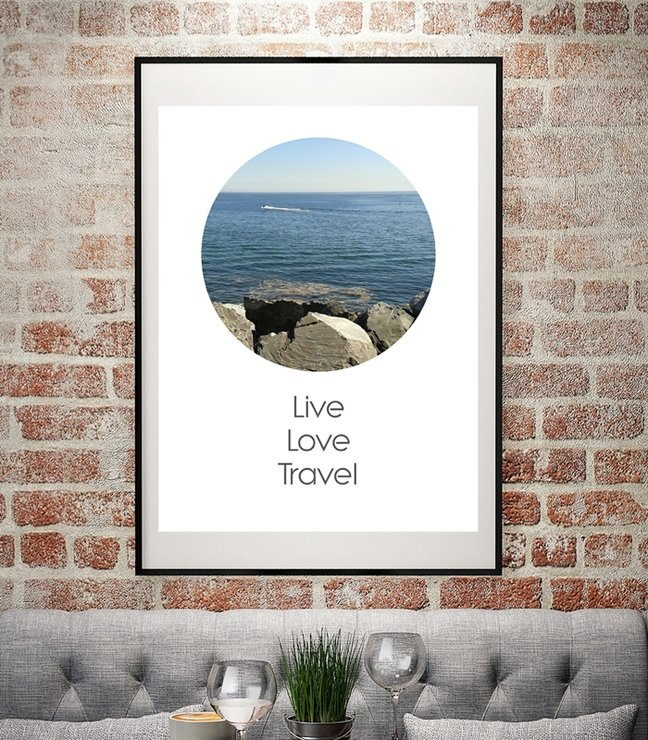 Art Print Inspiration Quote Live Love Travel Digital File By Imprintable
