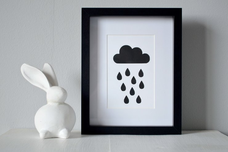 Rain Cloud Cut Out by Heartstrings and Creative Things