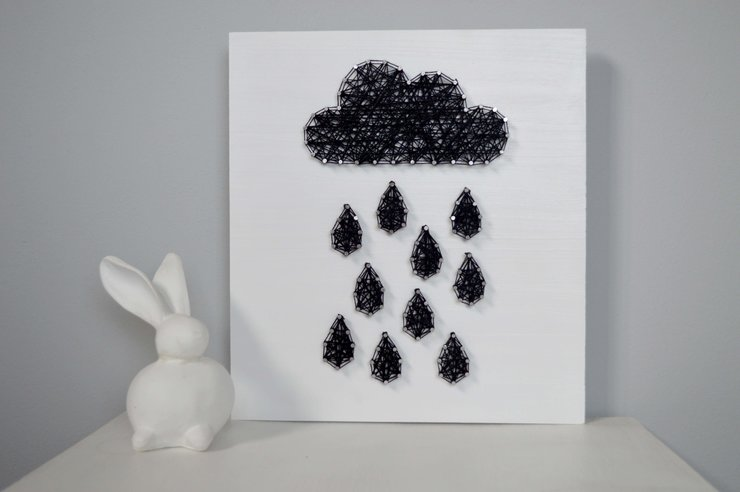 Rain Cloud String Art by Heartstrings and Creative Things