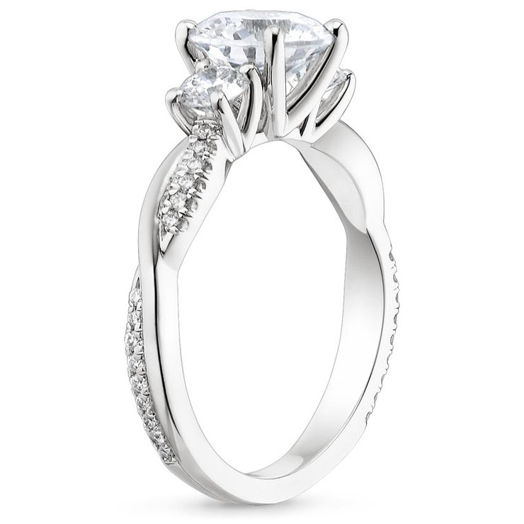 Jasmine White Gold Engagement Ring by Ralph Jacobs