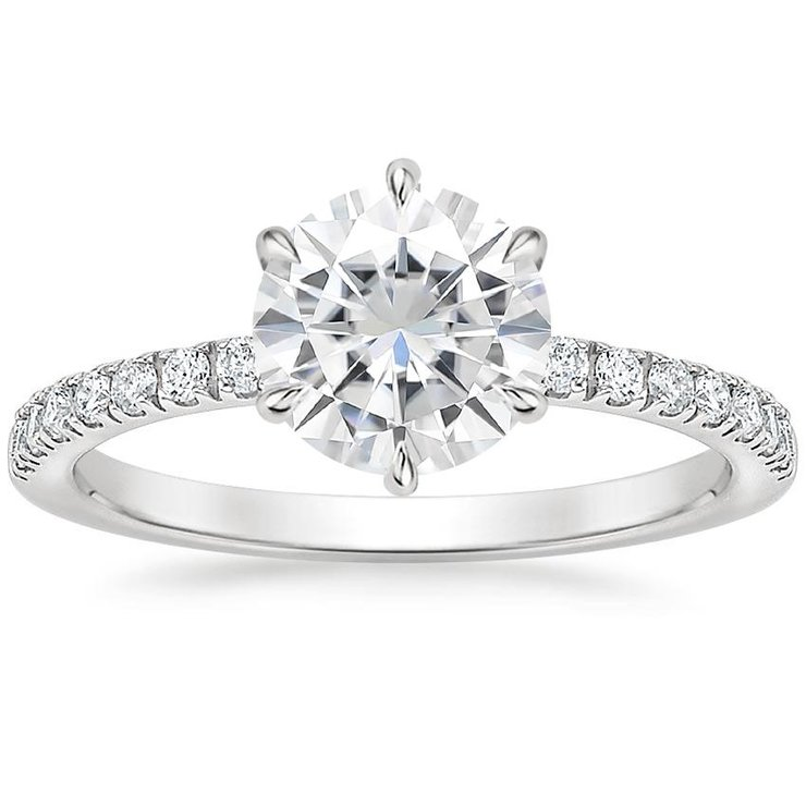 Lucy White Gold Engagement Ring by Ralph Jacobs