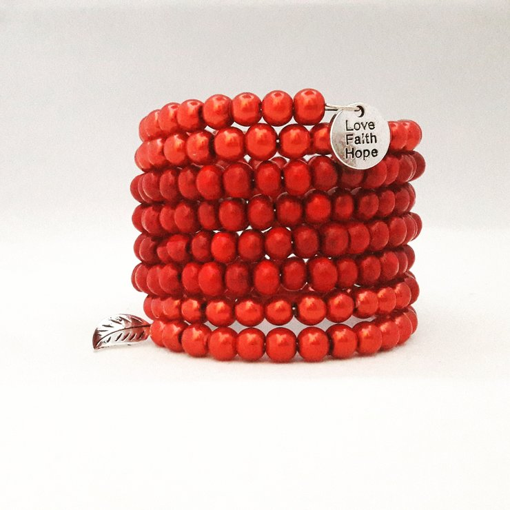 Red Wire Bracelet by StyLash Accessories