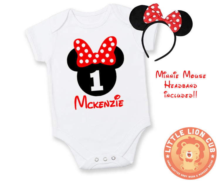 PERSONALISED Minnie Mouse FIRST Birthday outfit / 1st Birthday ...