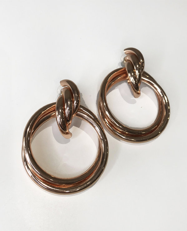 Dahlia Collection Rose gold BIG twist Hoop earrings  by Love & Sparkles