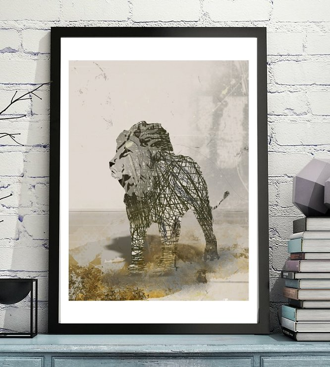 Rogue Lion - Art Print Digital Download by  ImPrintable | Art