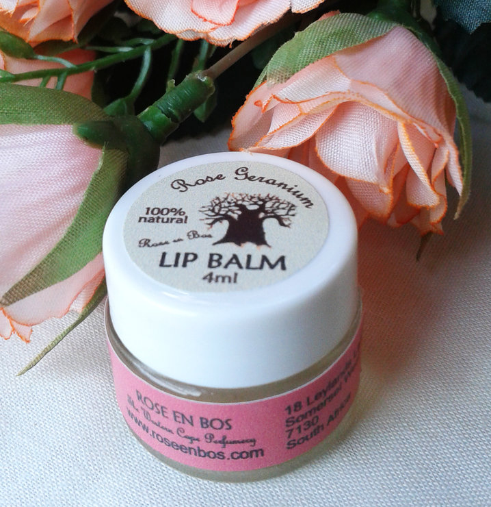 Rose Geranium Lip Balm by Rose en Bos
