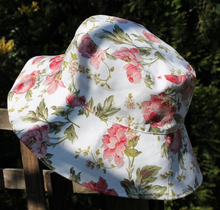 39417e2bf406 Adults Hat - White Rose by Cute as a button