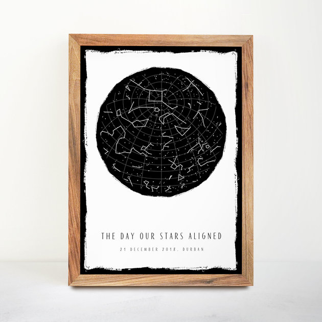 Gift Custom Star Map Posters (Digital Download) by Fifth House