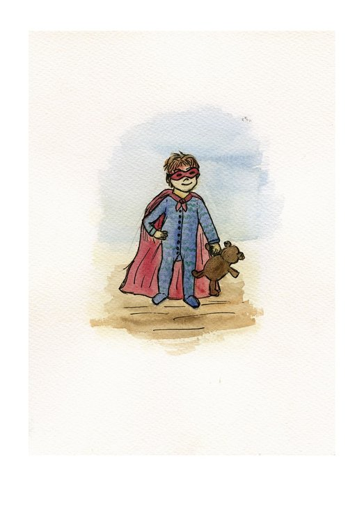 Superhero boy 1  (A4) by Art by Rony