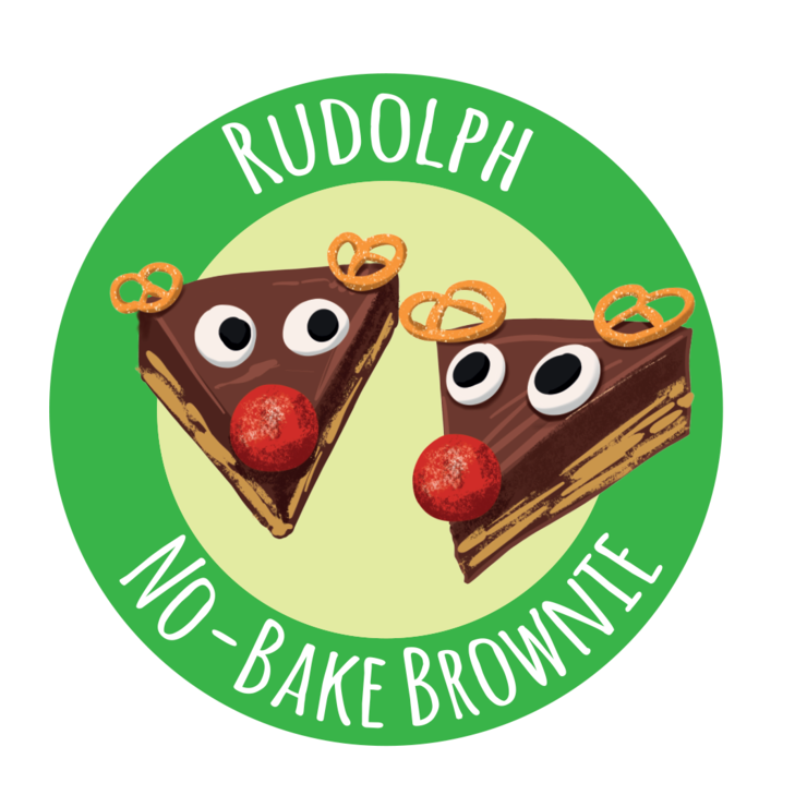 CHRISTMAS Rudolph No-Bake Brownie by Annie's Baking Club