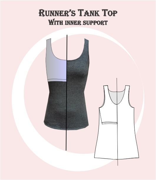 Runners Tank Top Sewing Pattern by My Sewing Patterns