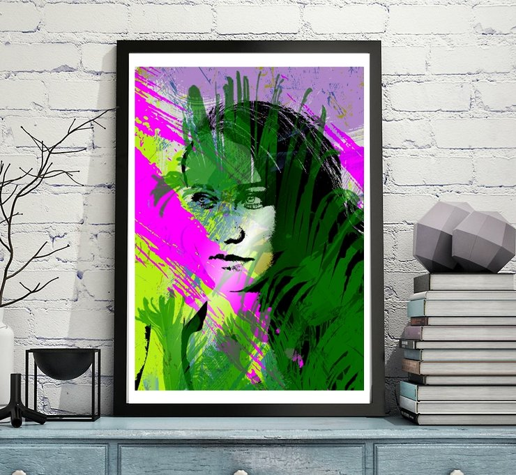 Sadi - Abstract Portrait Art - A4 by  ImPrintable | Art