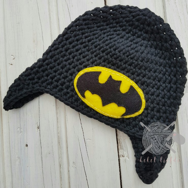 Batman Beanie by Hekelliefde