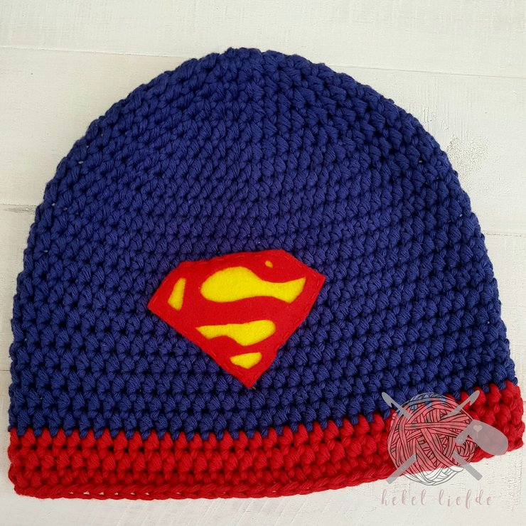 Superman Beanie by Hekelliefde