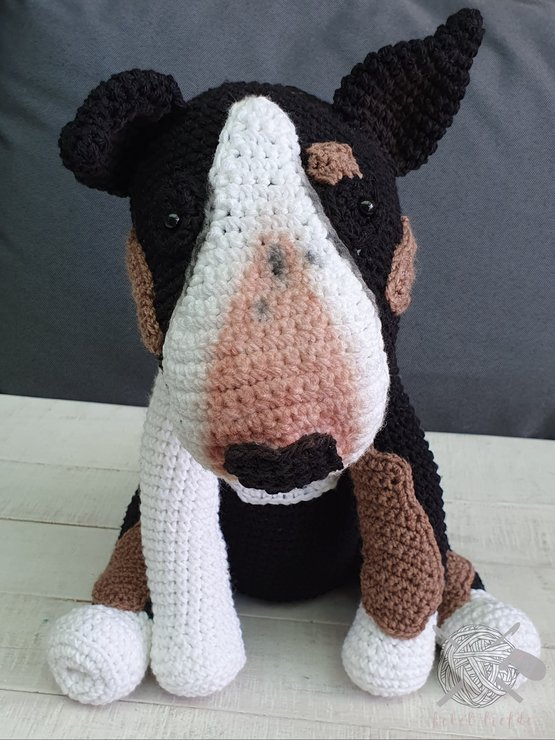 Bull terrier doggie by Hekelliefde