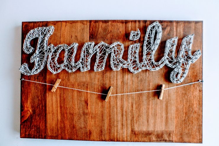 Family String Art Photo Board by The UPrising