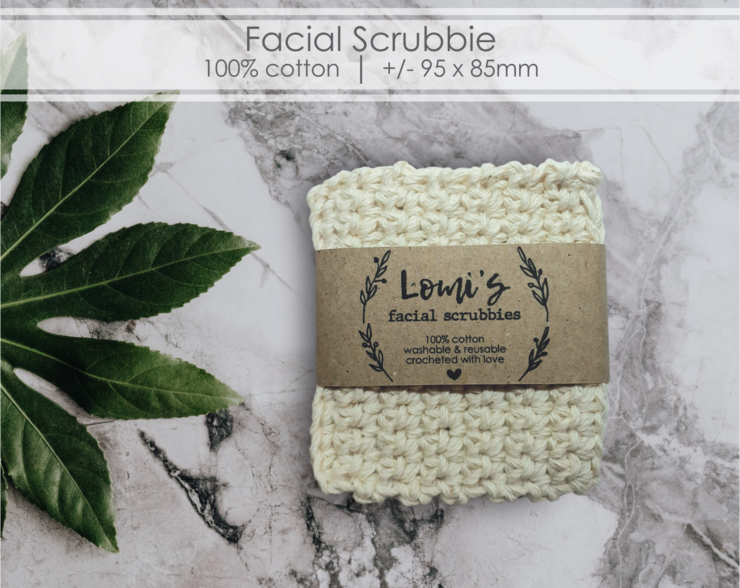 Facial Srubbie Cotton Crocheted by Scarlet and Mel