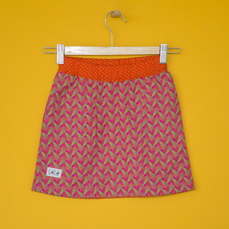 Peacock Girls' Skirt in Pink by Nana