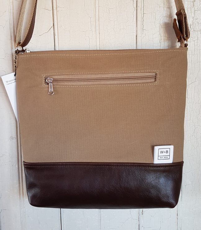 Made to Order Everyday Bag - Sand and Dark Brown by Wooding and Becker