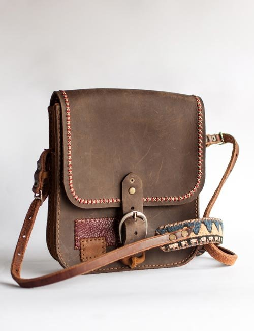 de4e82e01053 Handmade Leather and Kilim Steampunk Sling Bag by Modern  amp  Tribal  Designs