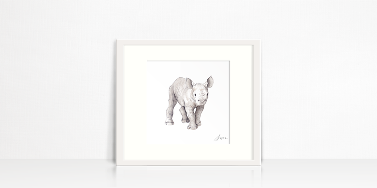 Baby Rhino by Susan Brand Design