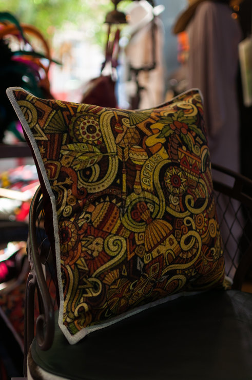 Scatter Cushion Cover With Custom Africa Print by Modern & Tribal Designs