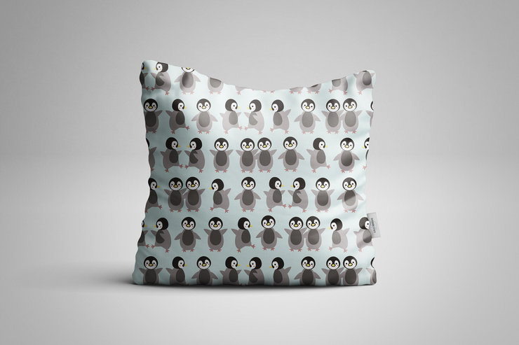 Penguin Cushion  by Lulu Designs