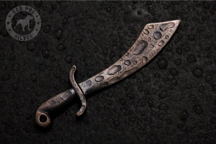Scimitar Pendant by Bad Dog Silver