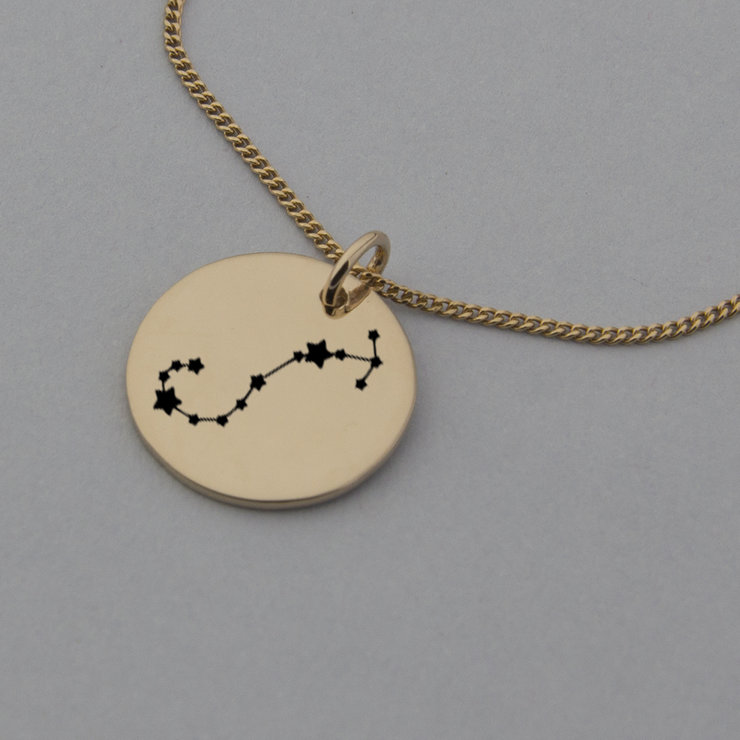 Scorpio Constellation Engraved Rose Gold Necklace, Zodiac Jewellery by Swish Jewellery Studio