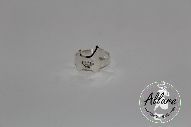 Sterling Silver Silhouette Ring by Allure Handmade Jewellery