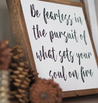 Fearless Pursuit Framed Wood Sign  by It Is Written