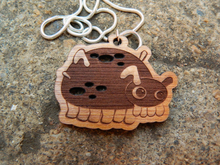 Pig pendant necklace by kyootopia sea pig pendant necklace by kyootopia mozeypictures Gallery