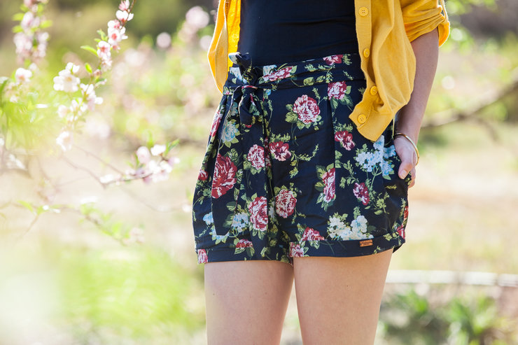 Roses Shorts by Hadassah Collection