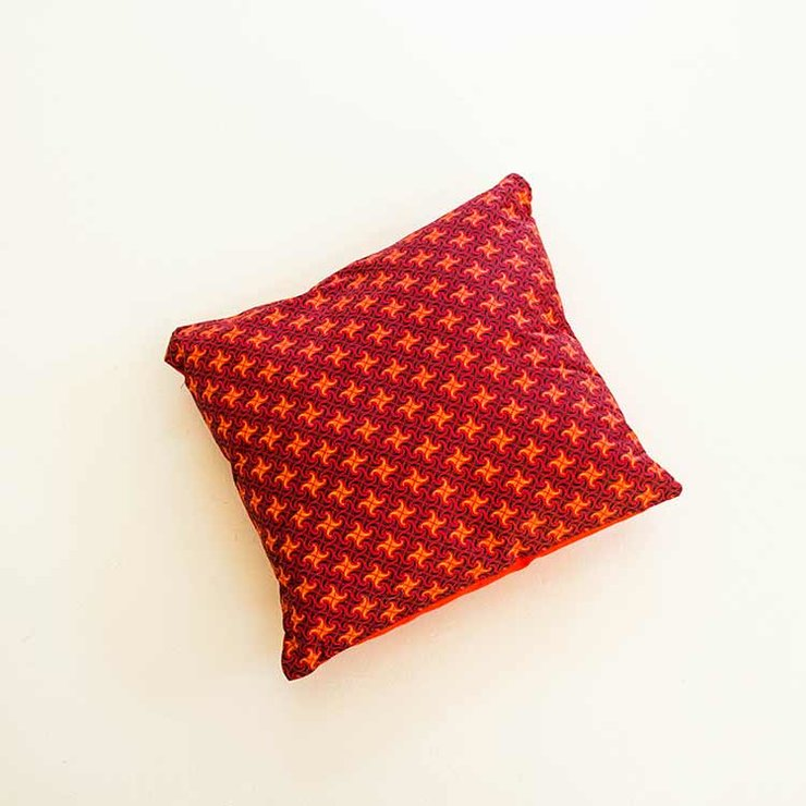 Star & Swirl Shweshwe scatter cushion cover (40 cm x 40 cm) by Manna - Fashion & Decor with an African soul