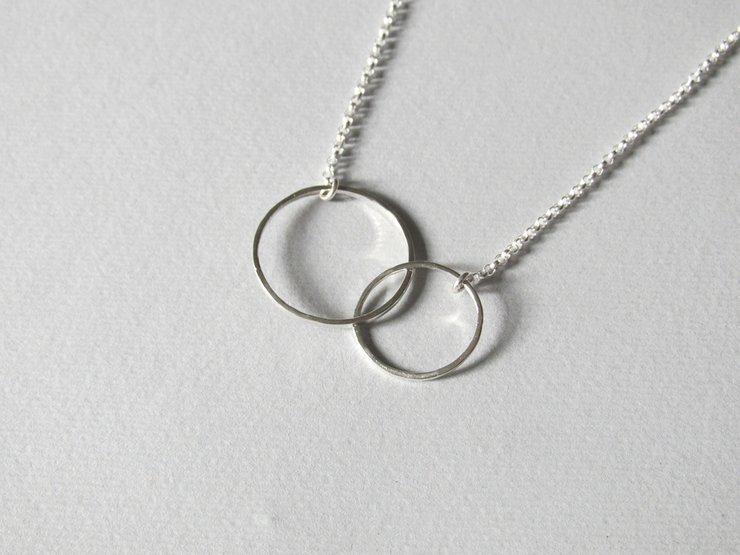 Sterling Silver Double Circle Pendant by Liwo Design