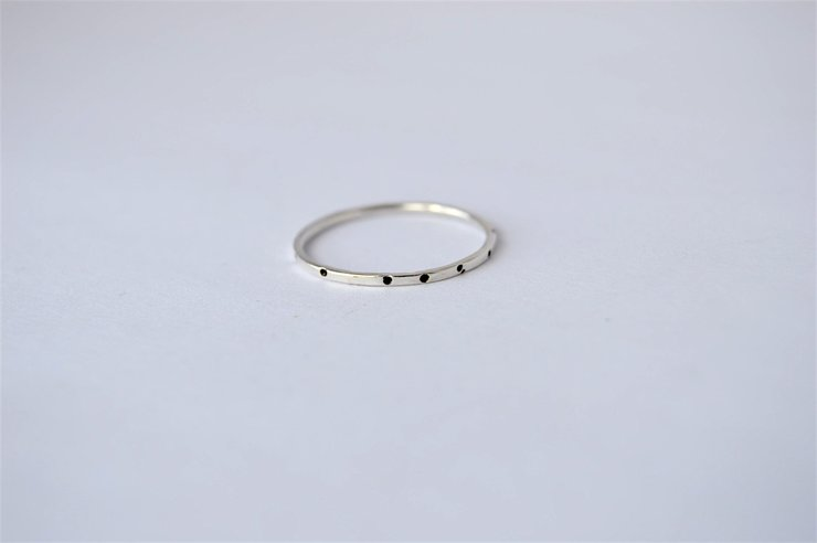 Sterling Silver Dot Stacking Ring by Liwo Design