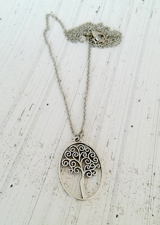 Silver tree of life necklace by Heart Jewelry Creations