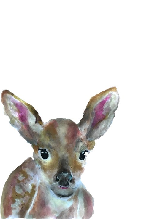 A4 Fawn Print by The Pencil Project  by Meghan Maconochie