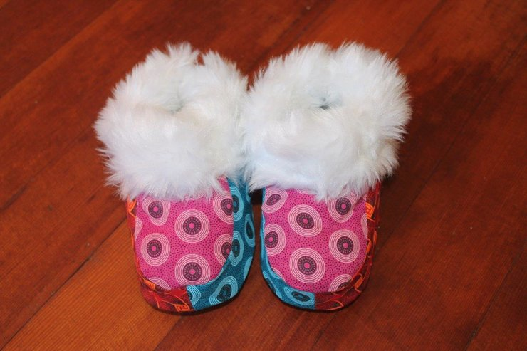 Shweshwe Slippers by ShweshweBaby