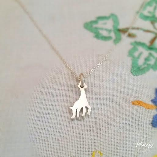 silver product willow charm giraffe necklace jewellery sterling