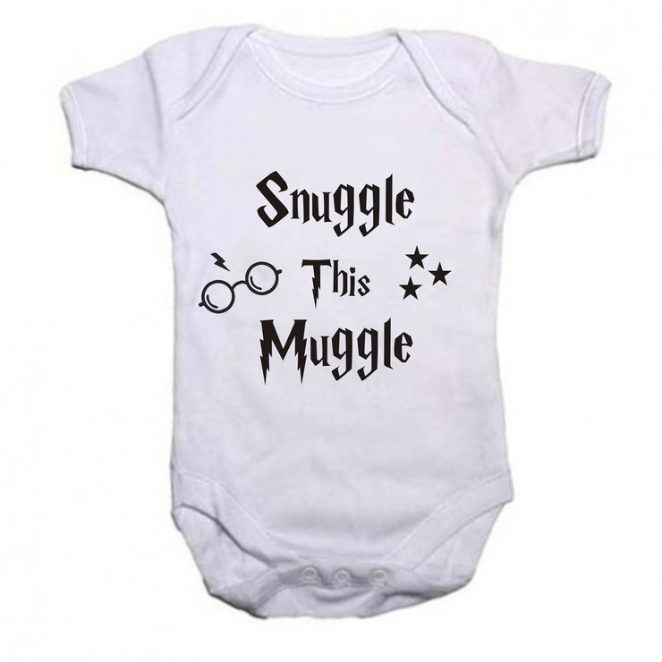 Snuggle this Muggle baby grow by Qtees Africa (Pty)Ltd