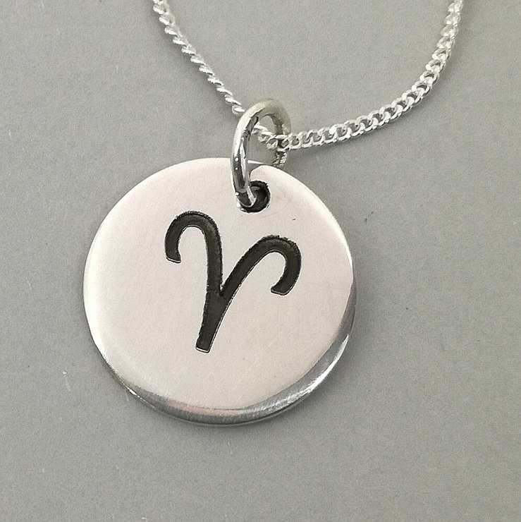 Aries Necklace, Aries Pendant, Aries Jewellery, Aries Gifts, Zodiac Jewellery, Sterling Silver by Swish Jewellery Studio