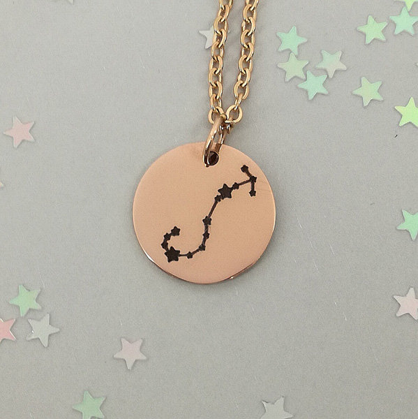 Scorpio 18ct Rose Gold Plated Constellation Necklace, Zodiac Jewellery, Zodiac Gifts, Birthday Gifts by Swish Jewellery Studio