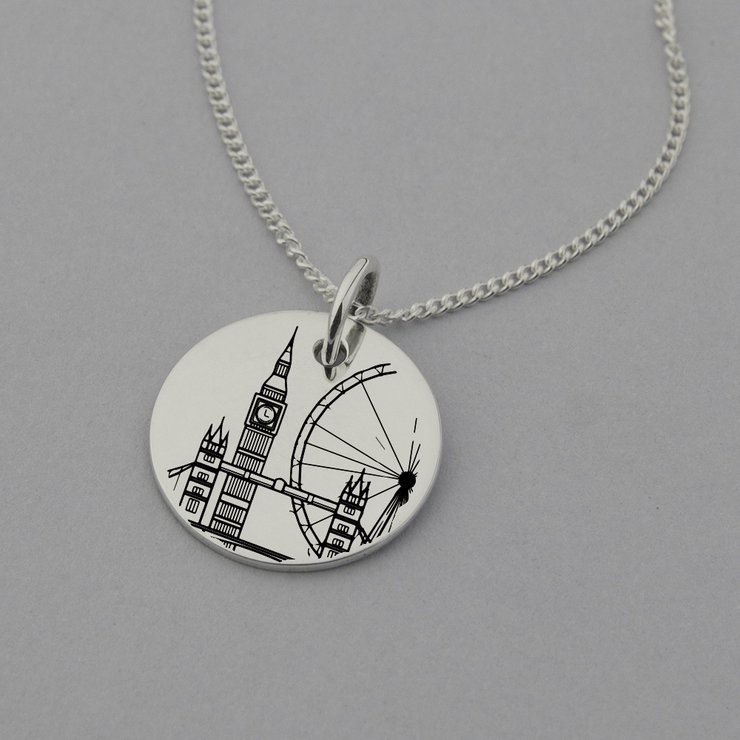 London Necklace, London Jewellery, London Gifts, London Travel Gifts, Sterling Silver by Swish Jewellery Studio