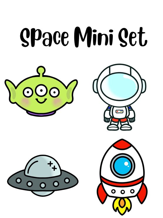 Space Mini Sets by The Cookie Cutter Co
