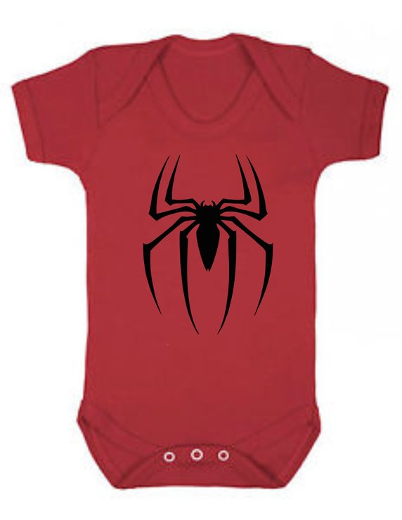 Spider red baby grow by Qtees Africa (Pty)Ltd