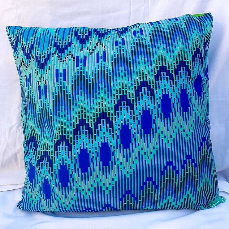 Square Cushion - Aqua by Feathers